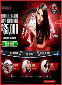 $5,000 Bonus At Betonline Casino