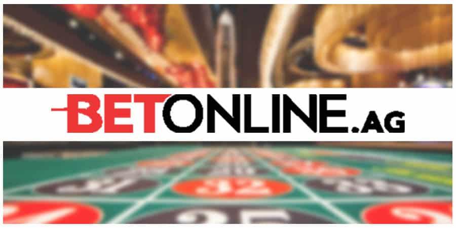 BetOnline.ag logo on casino background