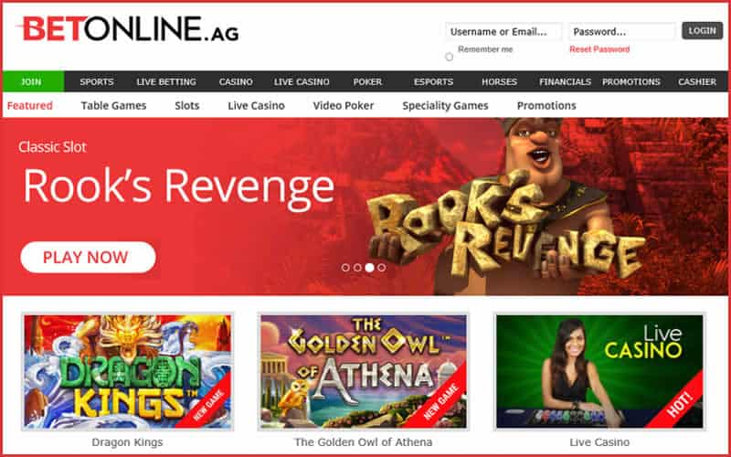 screenshot of Betonline Casino