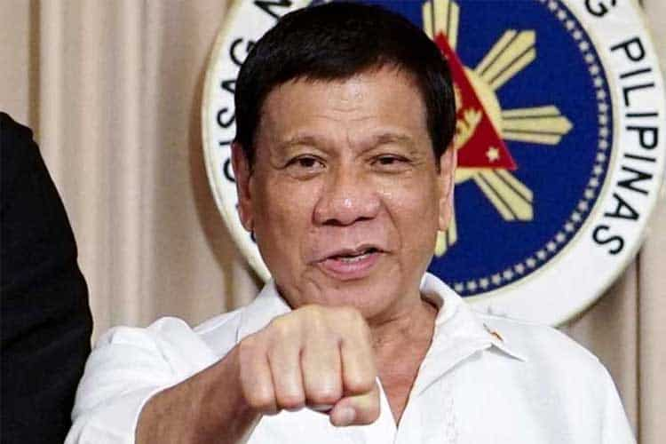 Philippine President Duterte Fist
