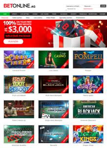 Claim Up To $3,000 At Betonline Casino