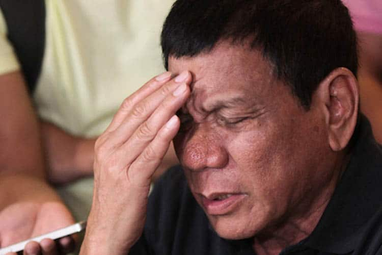 President Duterte Gives up