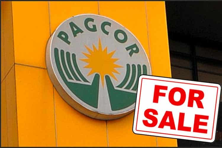 PAGCOR Office With For Sale Sign In Front