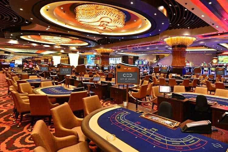 philippines casino in manila with no patrons on the gaming floor
