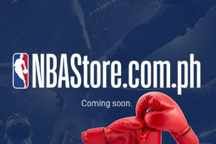 nba philippines web store landing page with boxing gloves overlaid
