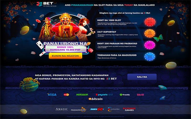 22Bet Filipino Casino Promotion