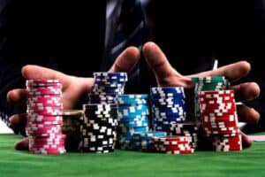 all in on poker table